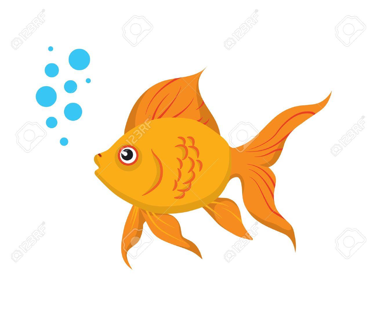 Goldfish clipart. Image of clip art