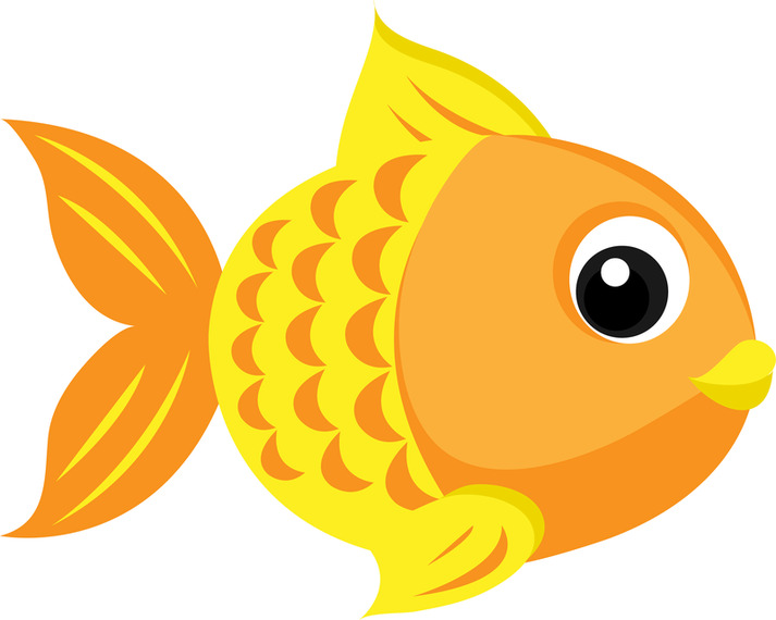 Vector download. Goldfish clipart