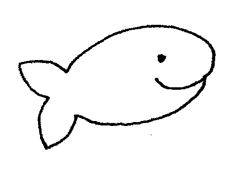 Black and white free. Goldfish clipart basic fish