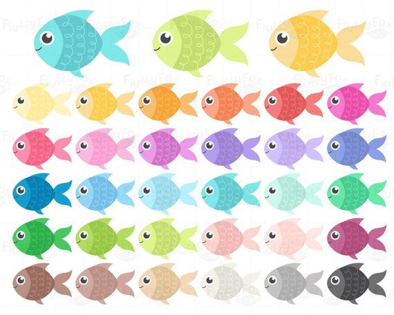 Fish fishes clip art. Goldfish clipart colorful