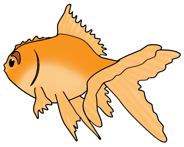 Goldfish clipart colorful. Image of fish clip