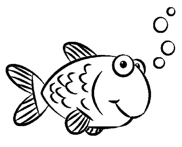 Goldfish clipart coloring page. Gold fish art simple