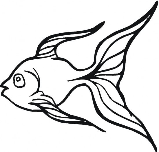 Fish bowl best schoolwork. Goldfish clipart coloring page