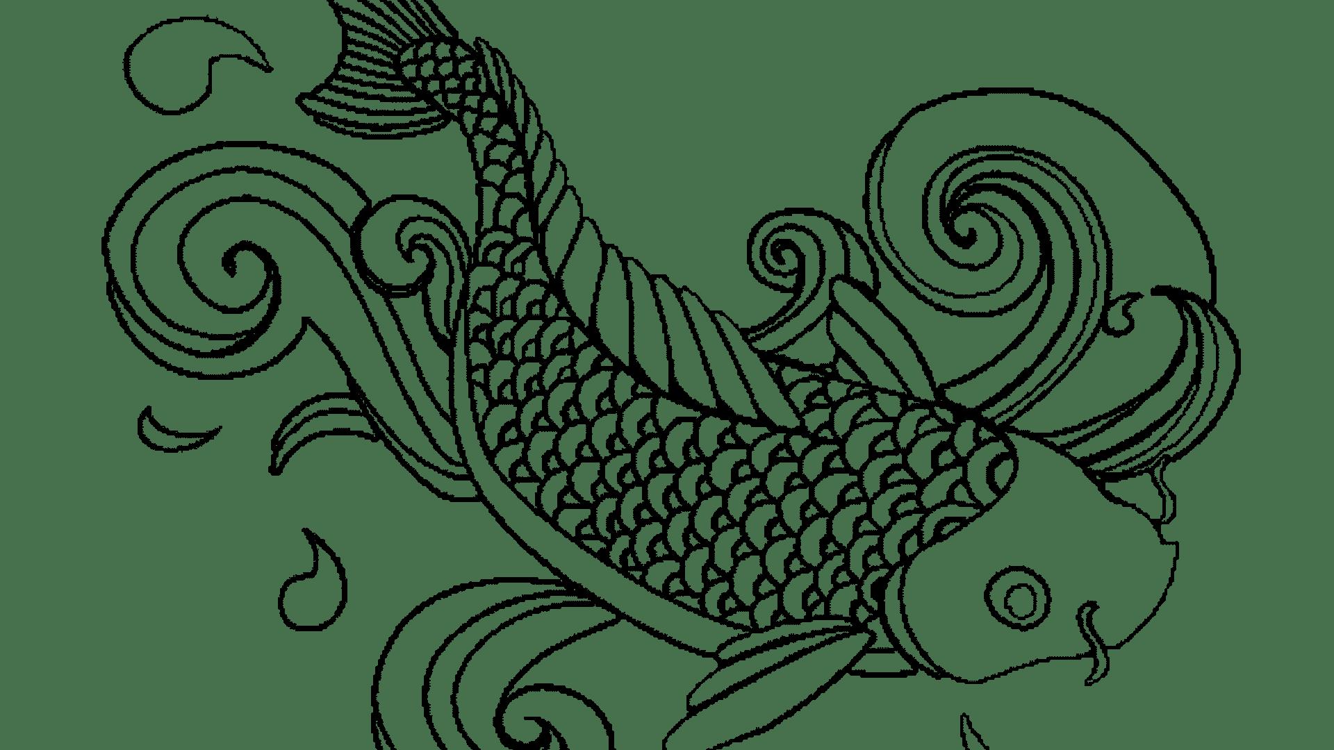 Unbelievable cute fish leversetdujour. Goldfish clipart coloring page
