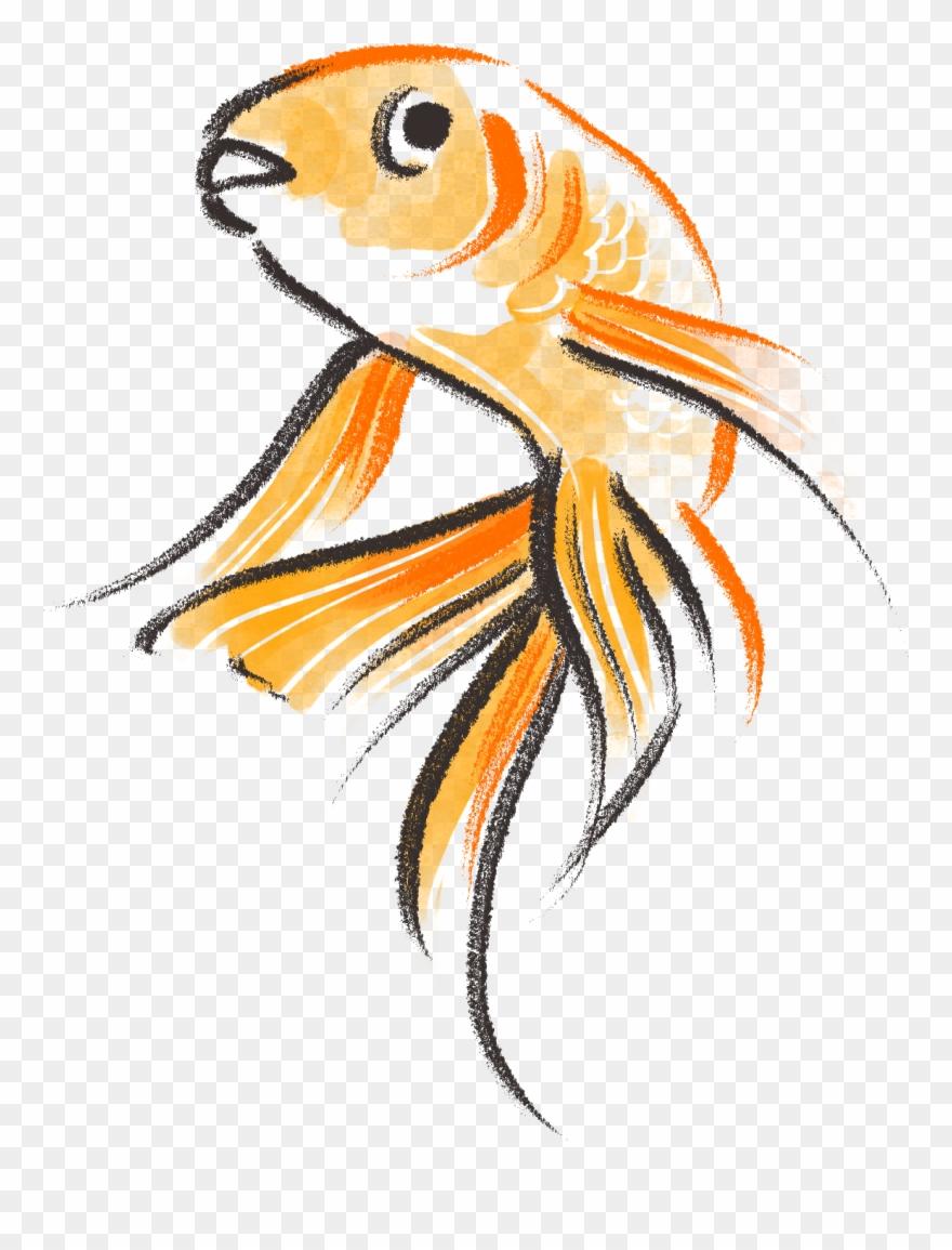 Goldfish clipart cute. Drawn pinclipart