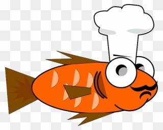 Feeding wearing chef hat. Goldfish clipart dory fish