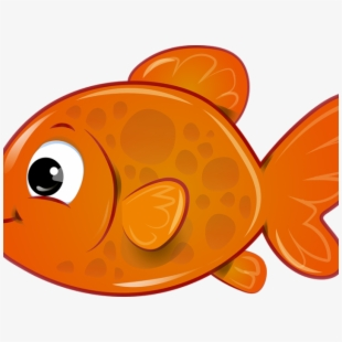 Dory fish orange clip. Goldfish clipart fisg
