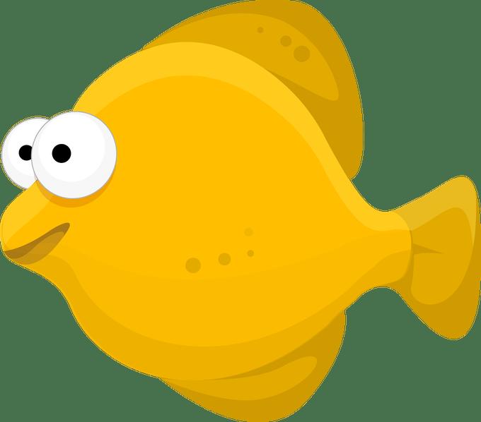 Fish image cartoon siewalls. Goldfish clipart girly