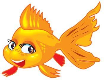 Cartoon clip art description. Goldfish clipart golden fish