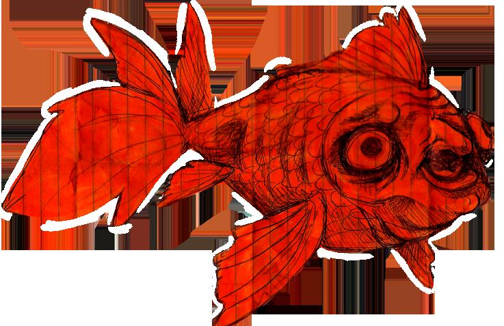 Goldfish clipart ish. Creeper fish by aliethekitsune