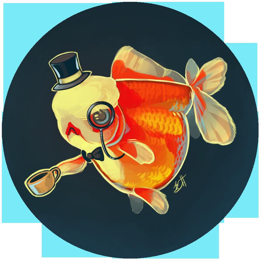 Dapper by lauren bennett. Goldfish clipart little fish