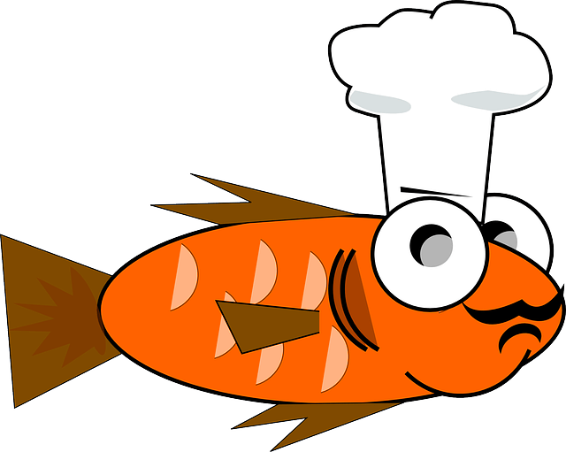 All about goldfish feeding. Pet clipart fish feeder