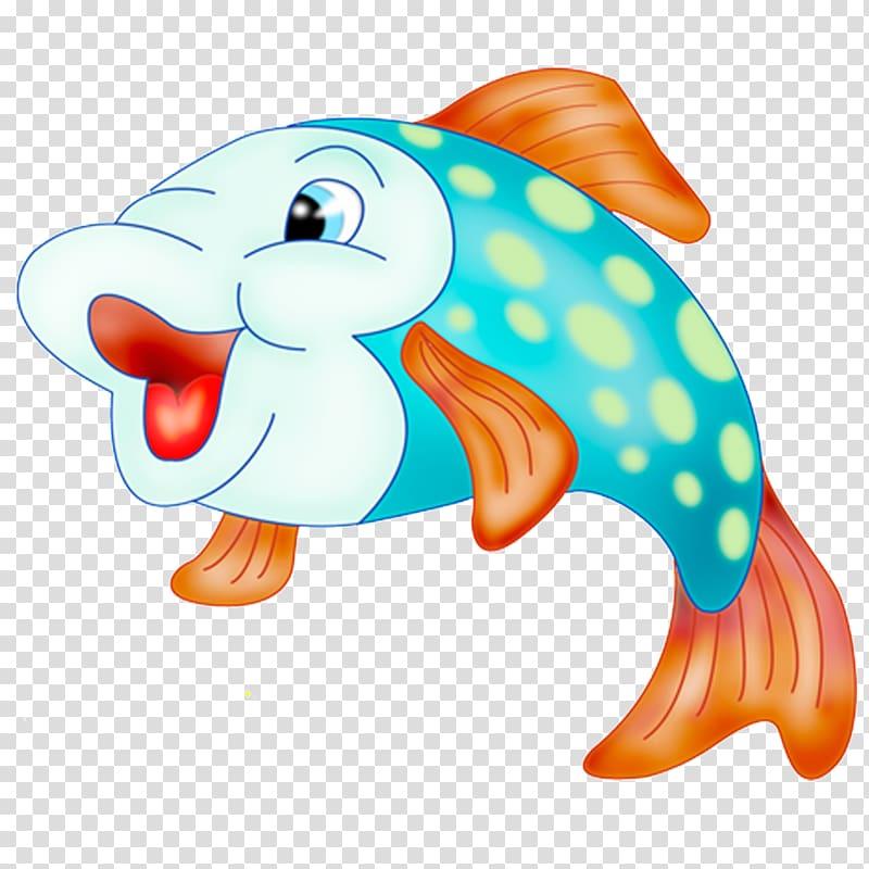 Cartoon illustration cute . Goldfish clipart little fish