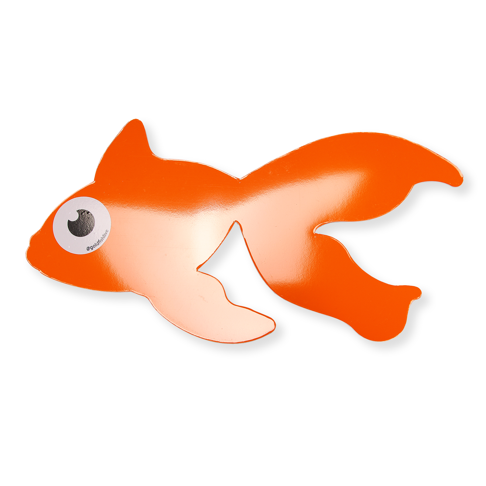 Blinky cut out . Goldfish clipart mascot