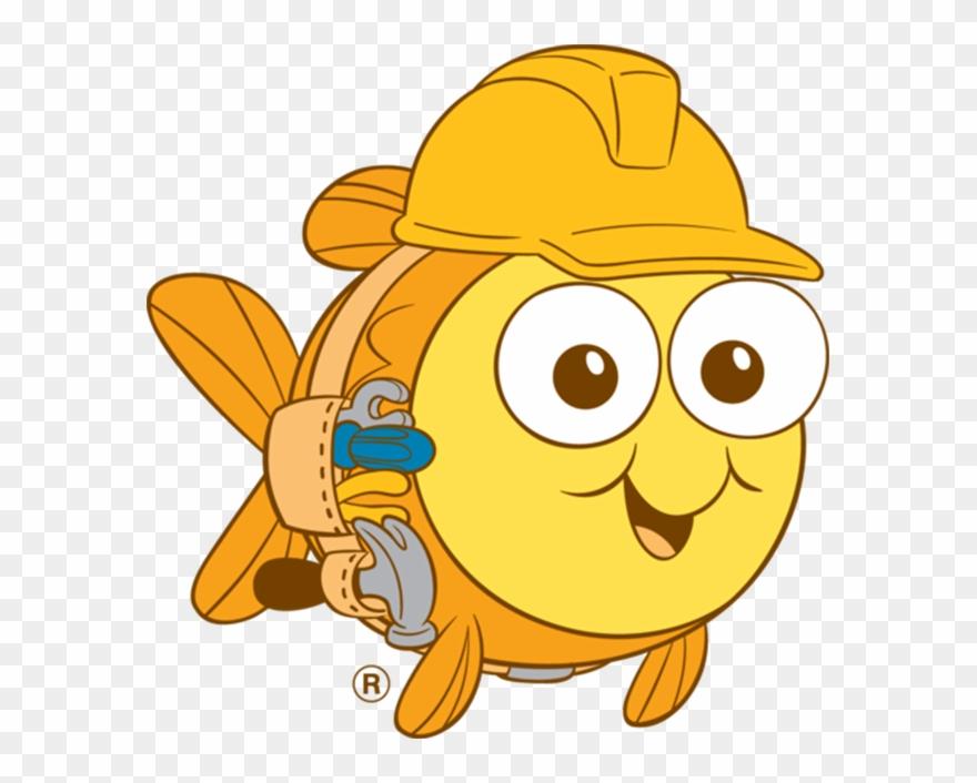 Aug swim school . Goldfish clipart mascot