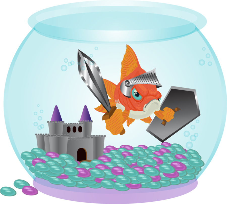 Goldfish clipart sick. George the knight by