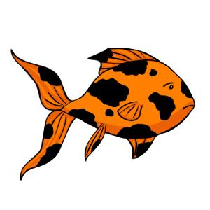 X free clip art. Goldfish clipart sick