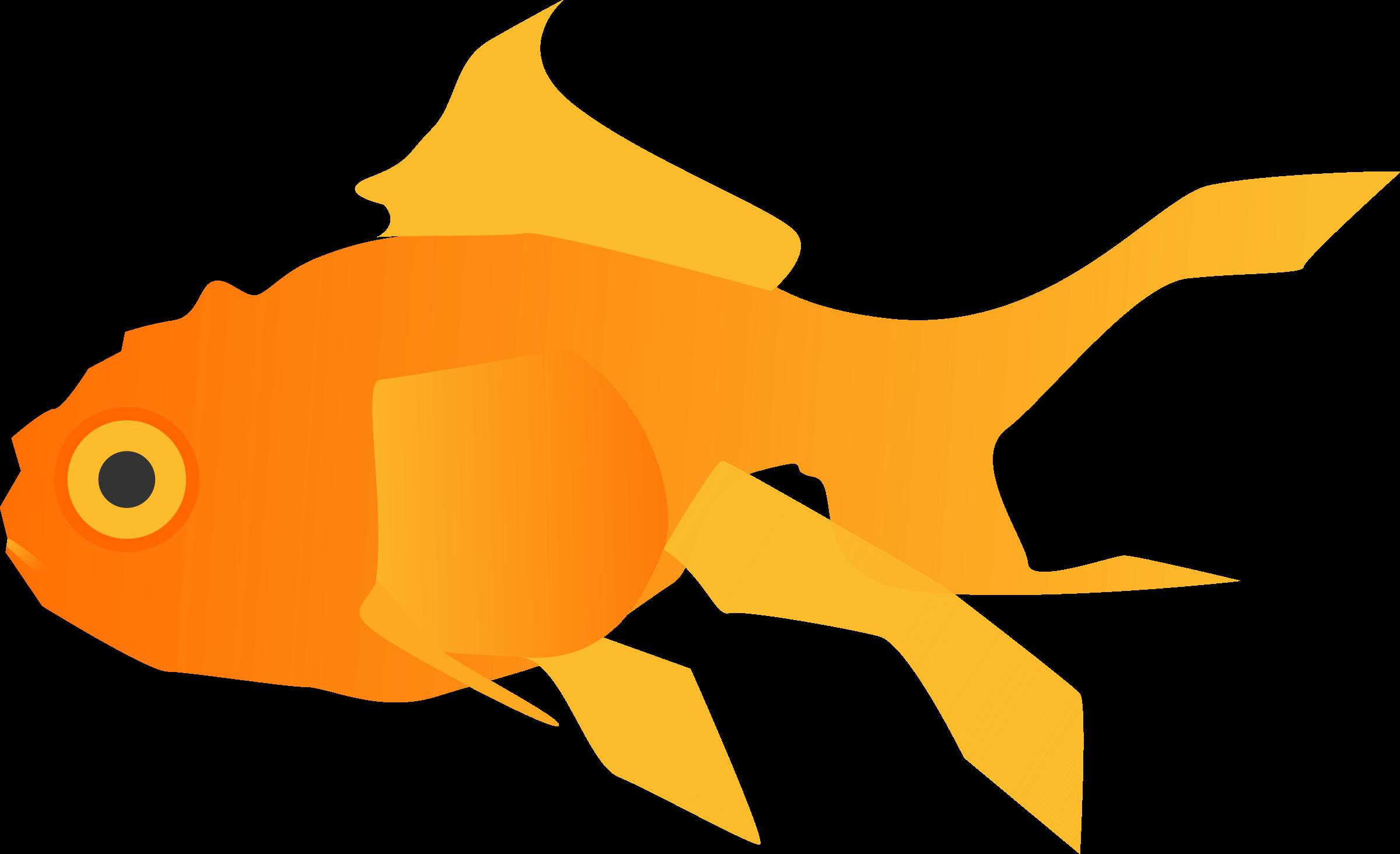 Big image png. Goldfish clipart svg