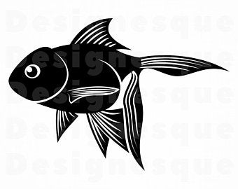 Etsy . Goldfish clipart svg