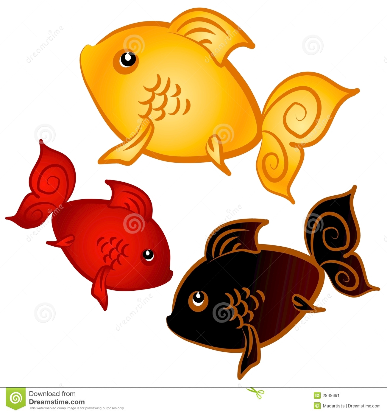 Goldfish clipart three. Panda free images