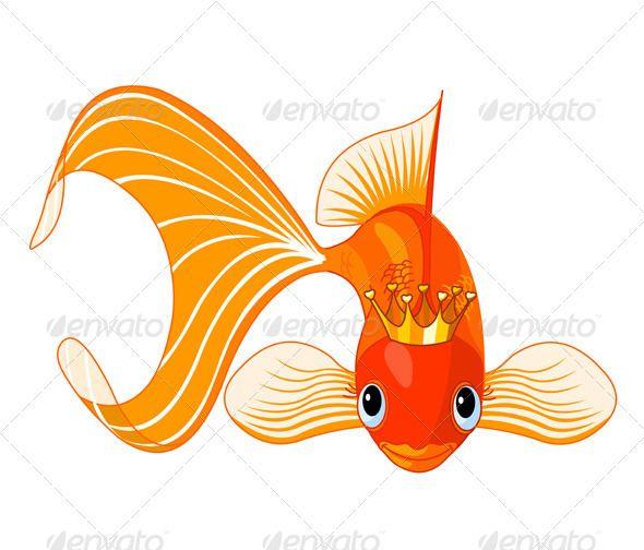 Royal graphicriver sunday school. Goldfish clipart vector