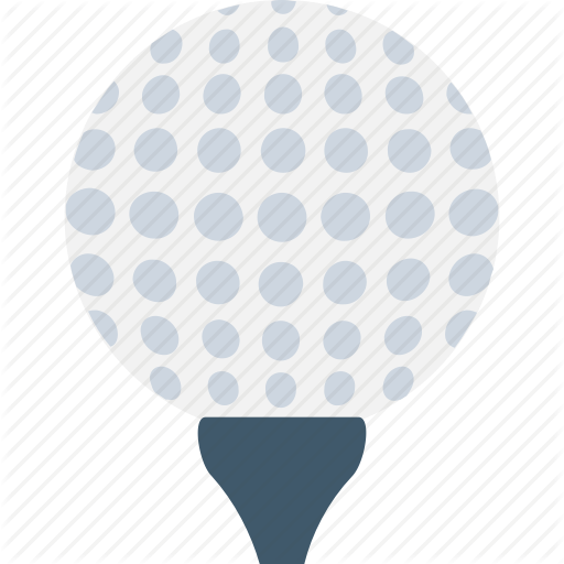 Flat sports icons by. Golf ball vector png