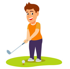 Golfing clipart male golfer. Sports free golf to