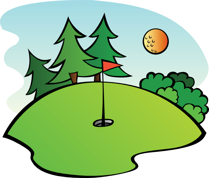Free golf and animations. Sunny clipart green