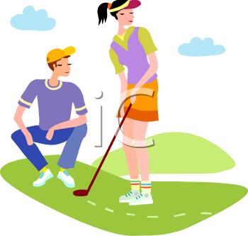 Golfing clipart golfer. Girl golf free download