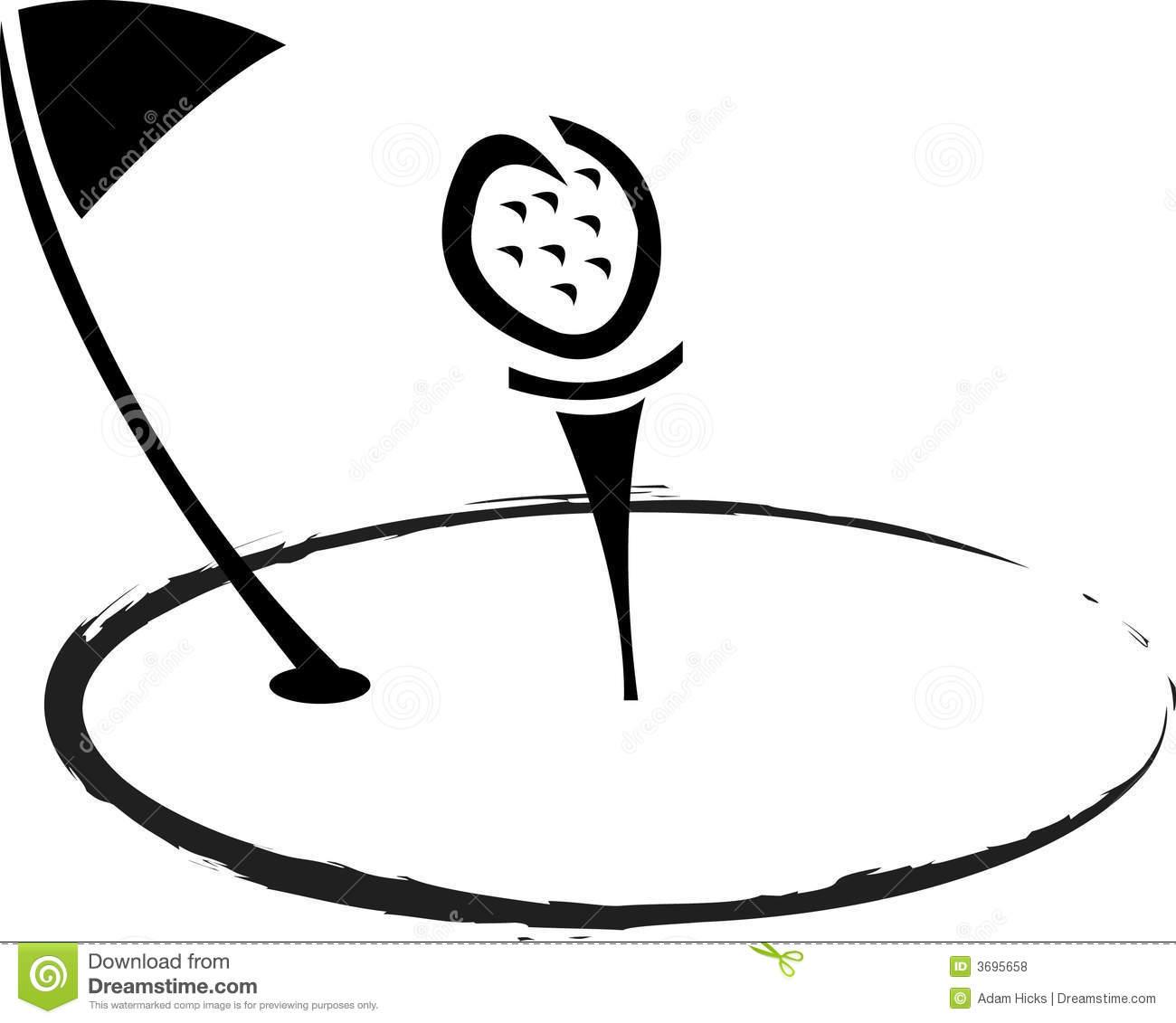 clip art black. Golf clipart artwork