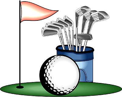 Golfing clipart golf club.