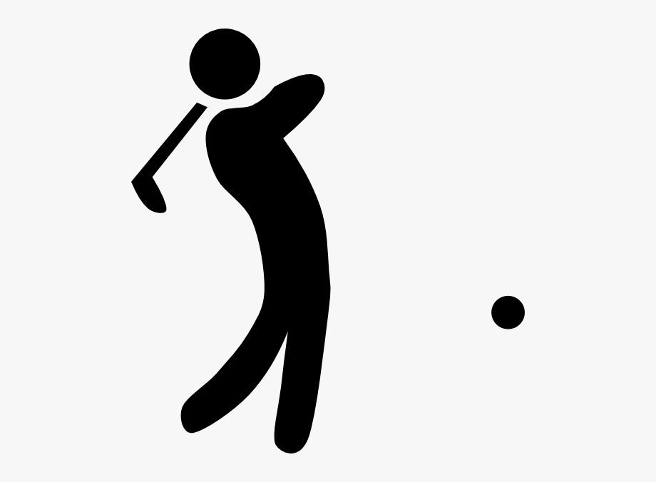 Golf club clip art. Golfer clipart black and white