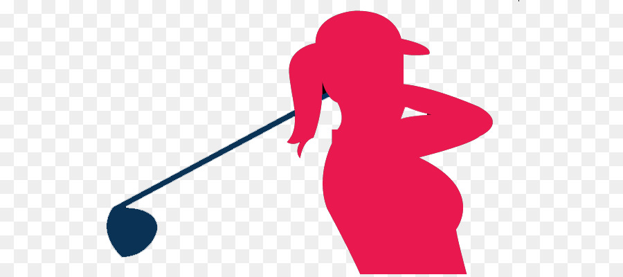 Golf background woman red. Golfer clipart clip art