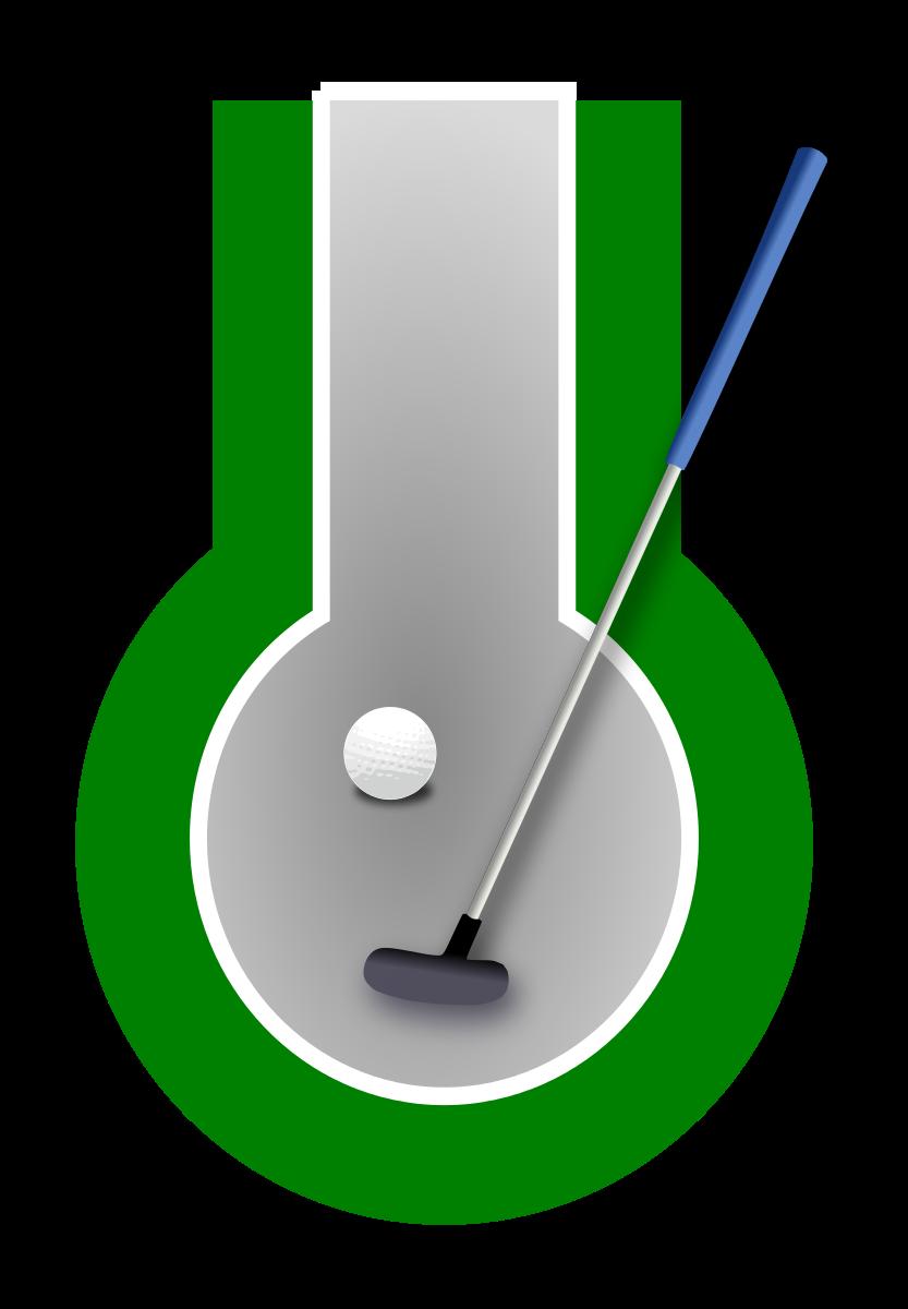 Mini golf minigolf panda. Golfing clipart clip art
