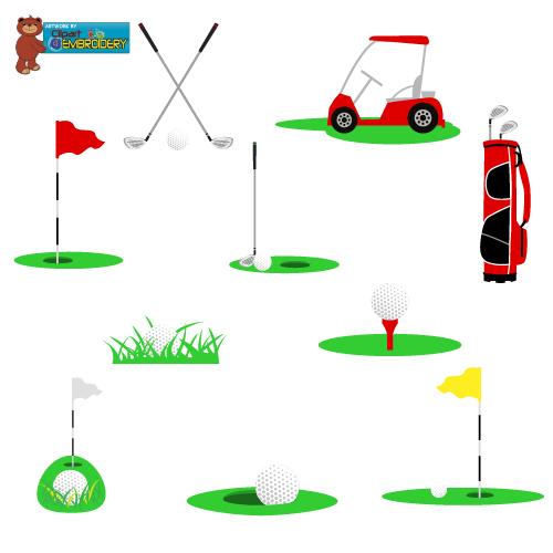 Golf clipart embroidery design free. Epb passbook mall