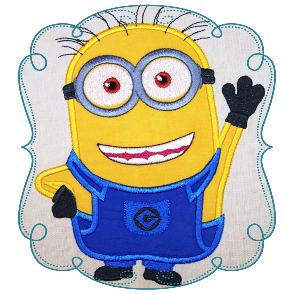 Valentine clipart minions. Minion applique pick me