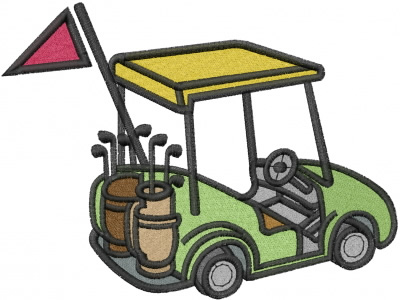 Designs library clip art. Golf clipart embroidery design free