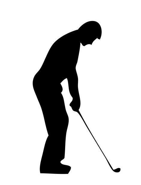 Golf clipart free stock photo. Player silhouette public