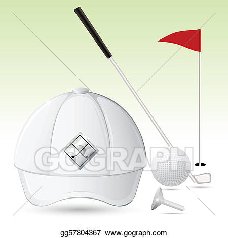 Eps vector accessories stock. Golf clipart golf accessory