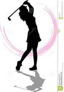 Golf clipart golf accessory. Lady golfer silhouette kid