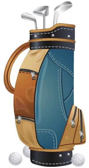 Golfing clipart golf bag. Free clip art bags