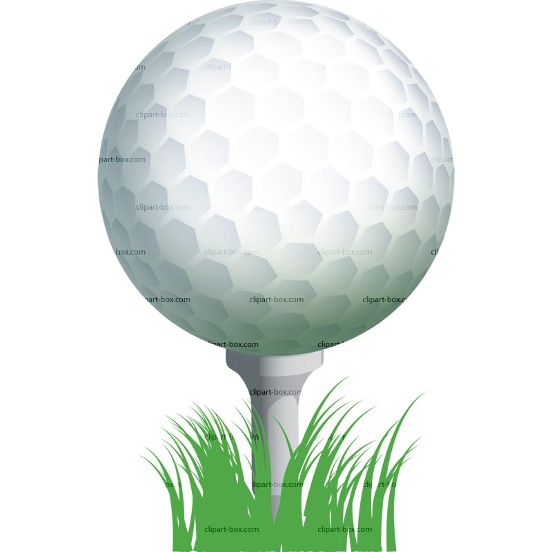 Golf clipart golf ball. Clip art on tee