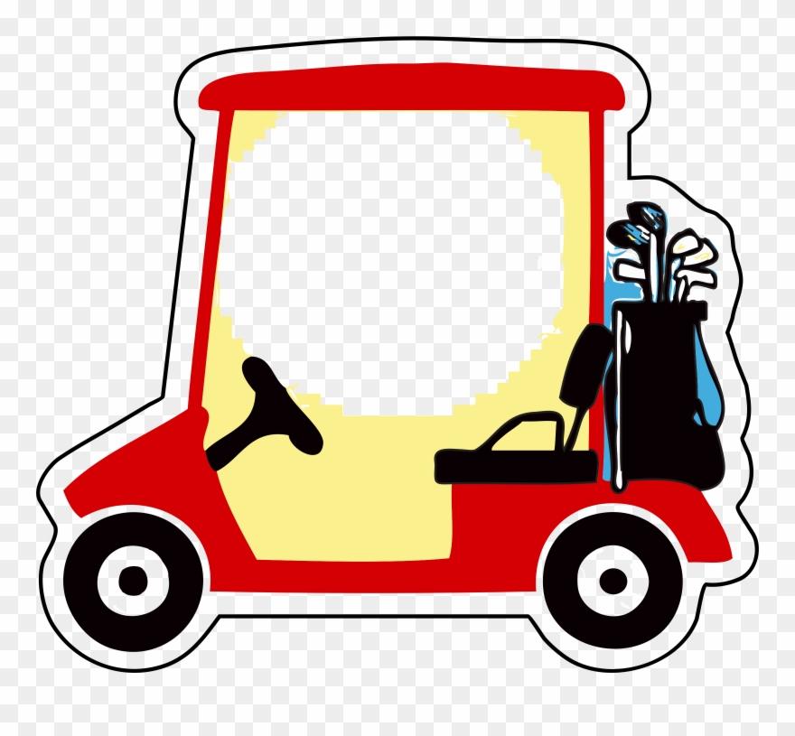 Golf clipart golf buggy. Buggies clubs balls cart