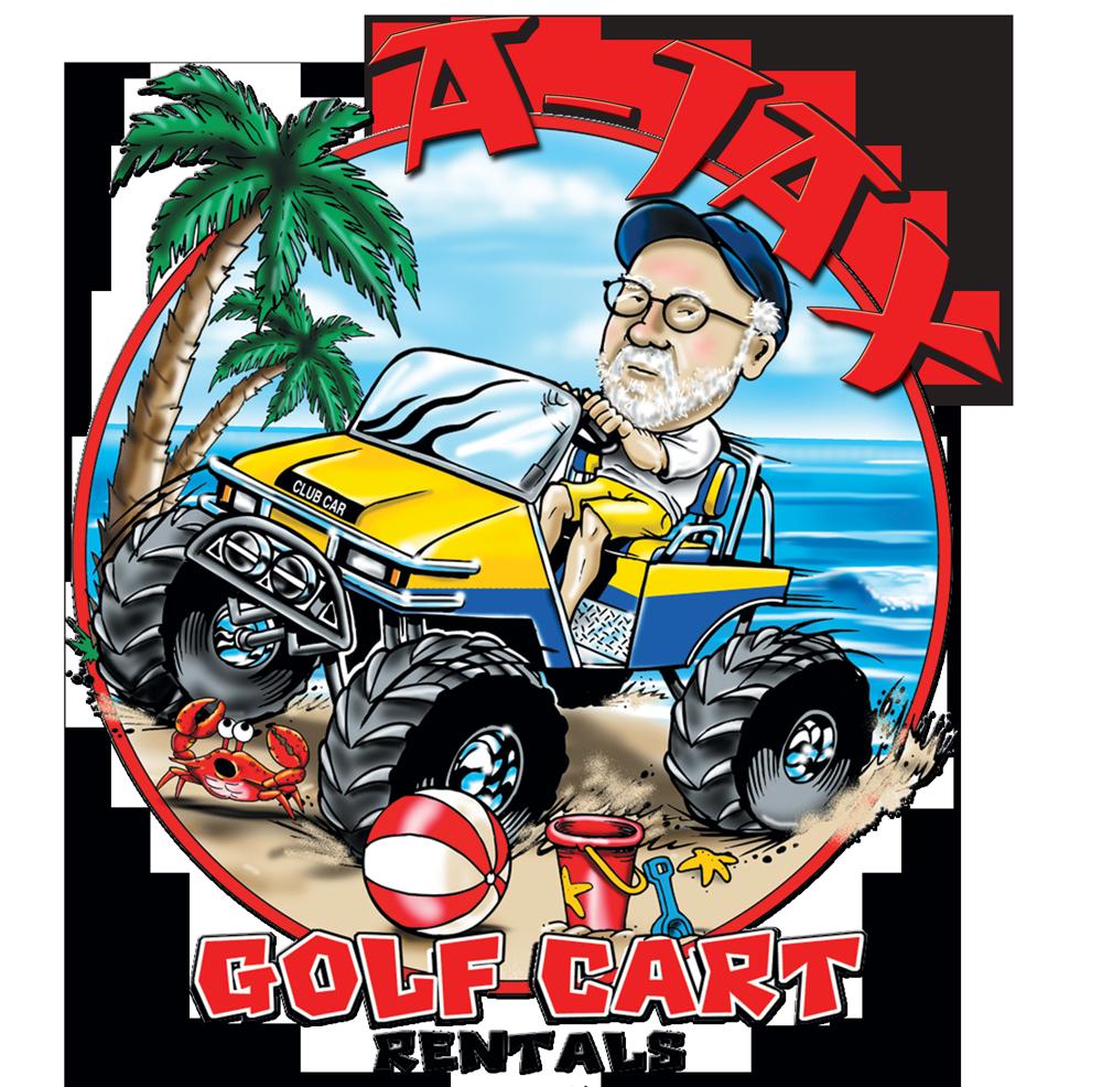 Sunset beach a jax. Golf clipart golf buggy