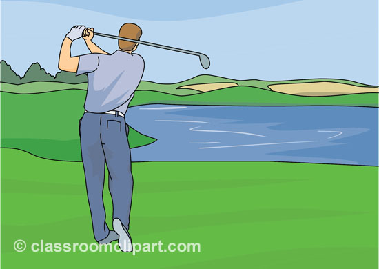 Golfer clipart golf ground.  course clip art