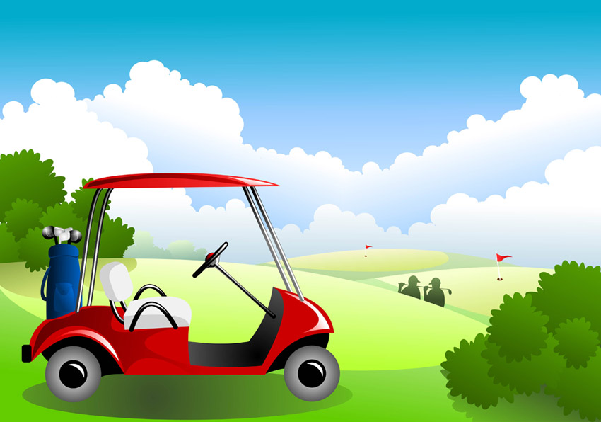 Golf clipart golf clubhouse. Course free vectors ui