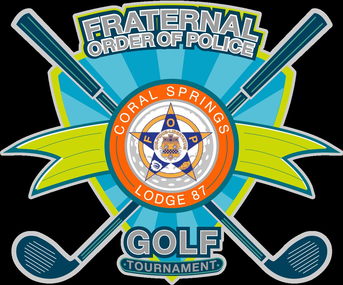 Golfer clipart golf scramble. Fraternal order of police