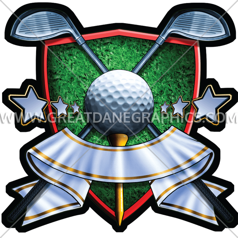 Production ready artwork for. Golf clipart golf crest