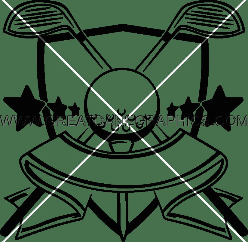 golf clipart golf crest