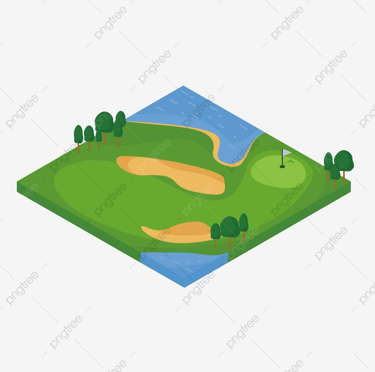 A course lawn png. Golf clipart golf field